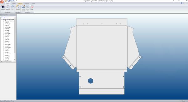 SigmaBEND - Rozwinięty model 3D