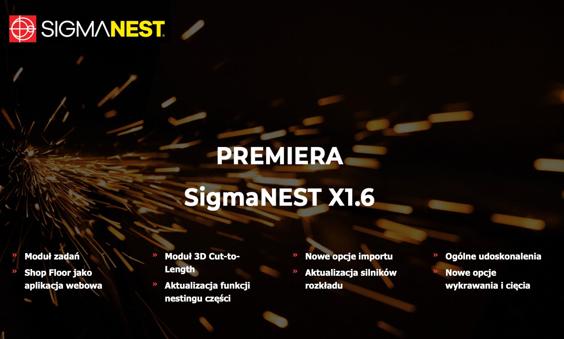 Premiera: SigmaNEST X1.6