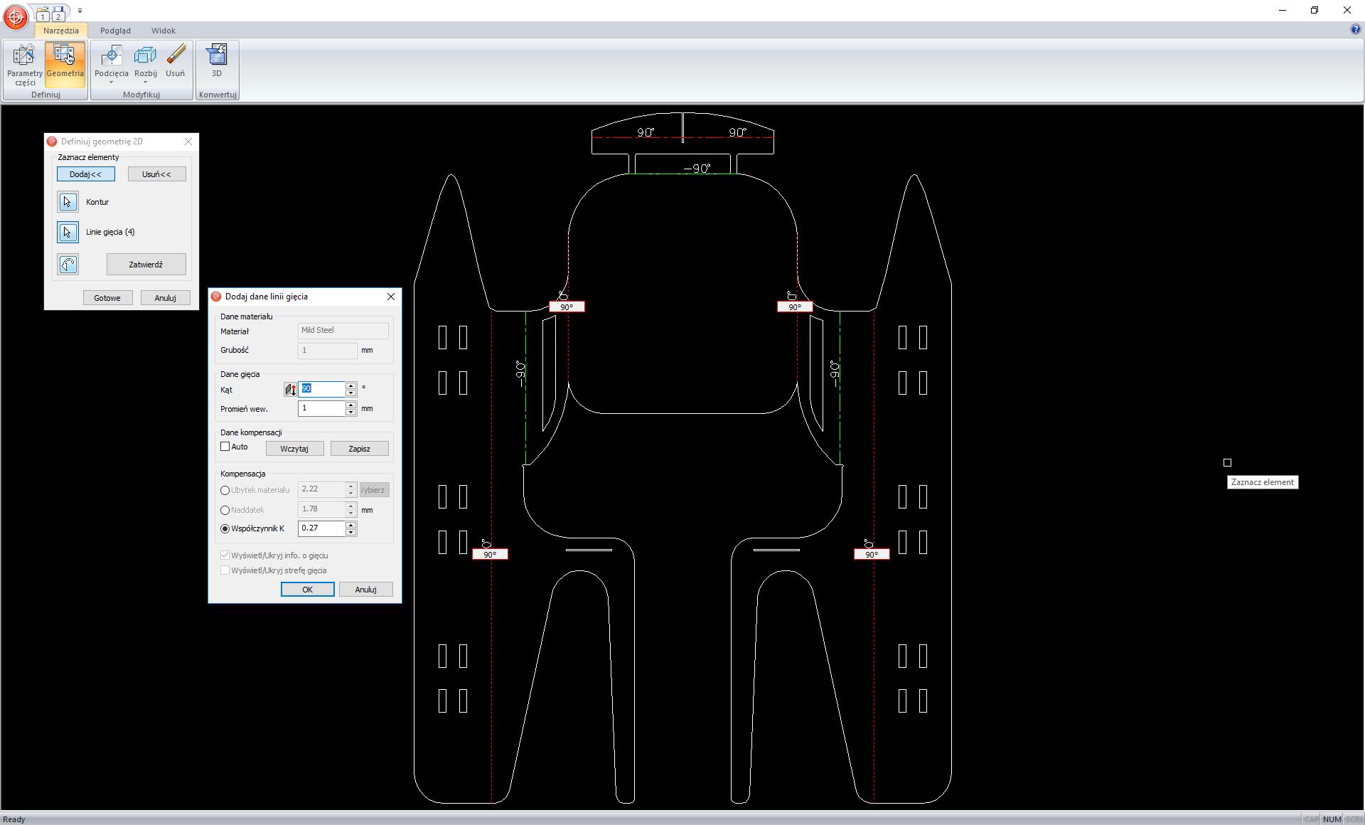 Konwersja geometrii DXF/DWG