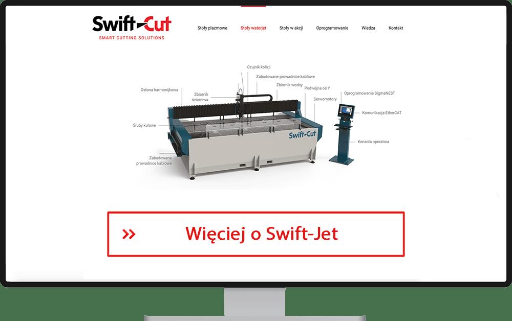 Cięcie kompozytów - stół Waterjet Swift-Jet