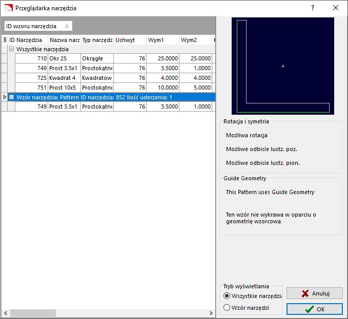 Nowość: SigmaNEST X1.7 - Narzędzia