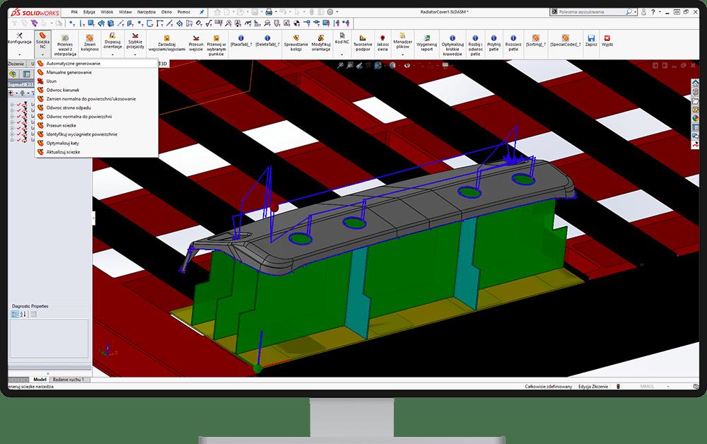 Automatyczne generowanie ścieżki NC - SigmaNEST 3D