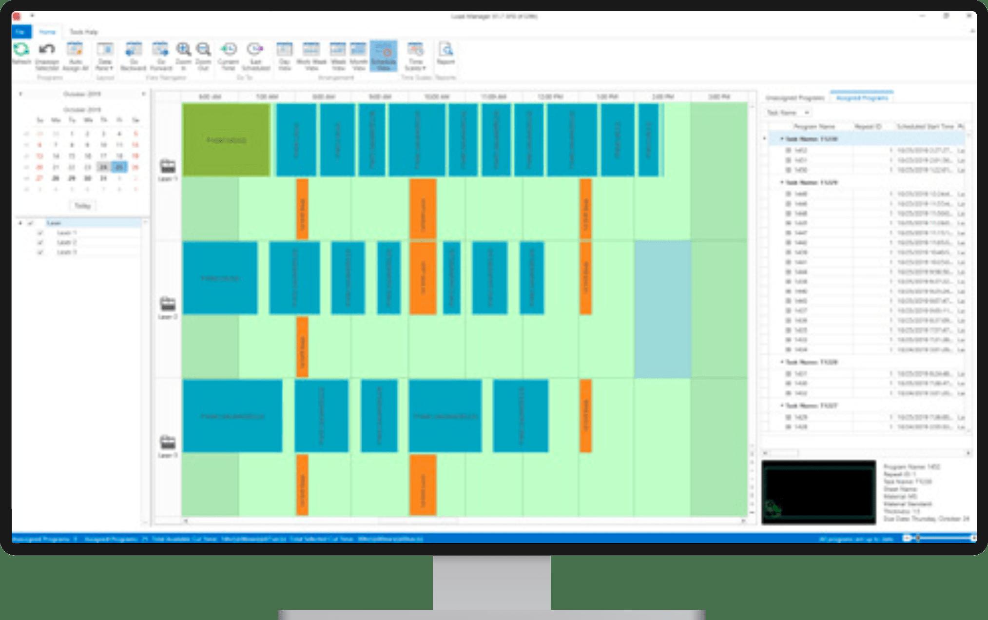 Planowanie pracy maszyn - Load Manager - SigmaNEST