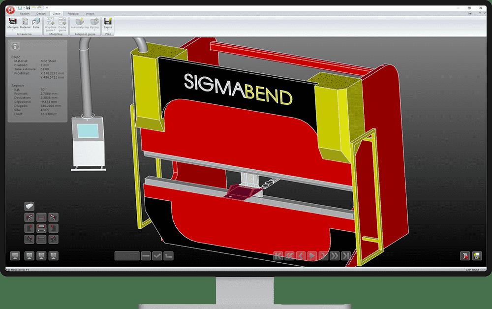 Pełna symulacja maszyny - SigmaBEND