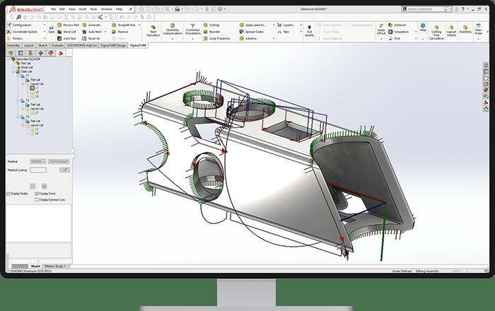 Elastyczne tworzenie części do wycięcia - SigmaTUBE SW