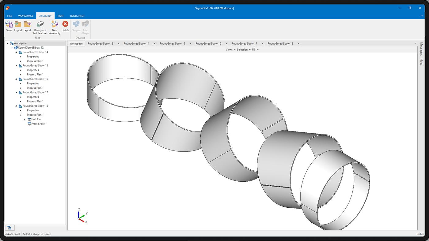 Tworzenie kształtów i precyzyjne rozwijanie – SigmaDEVELOP
